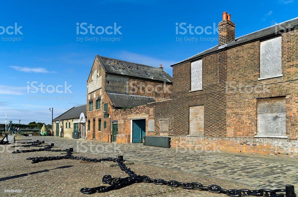 Old army drill hall on Purfleet Quay, King's Lynn stock photo