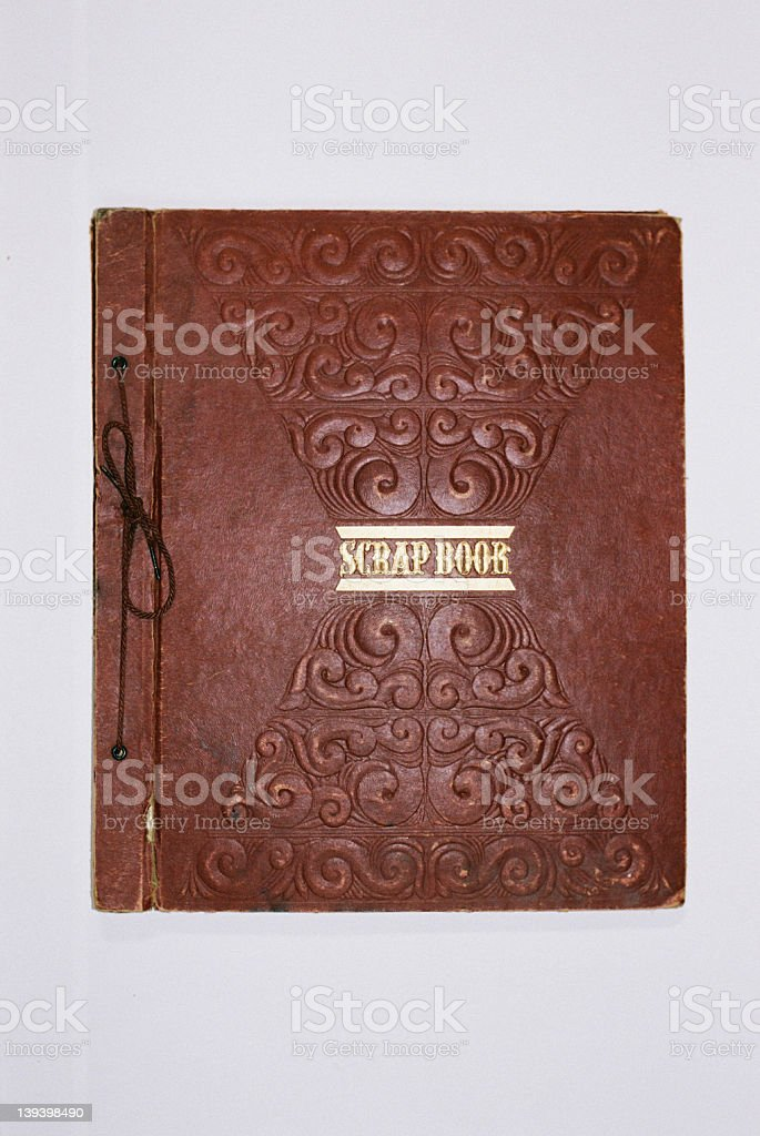 old art deco scrapbook_3 stock photo