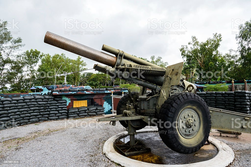 Old artillery,Thailand royalty-free stock photo
