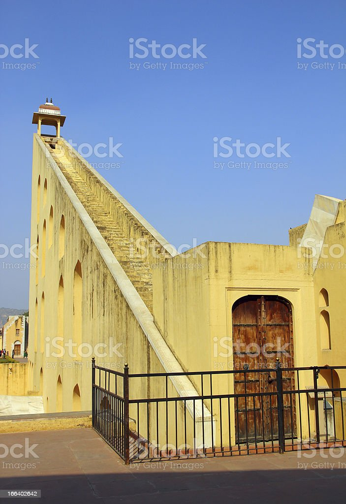old astrology observatory in Jaipur India royalty-free stock photo