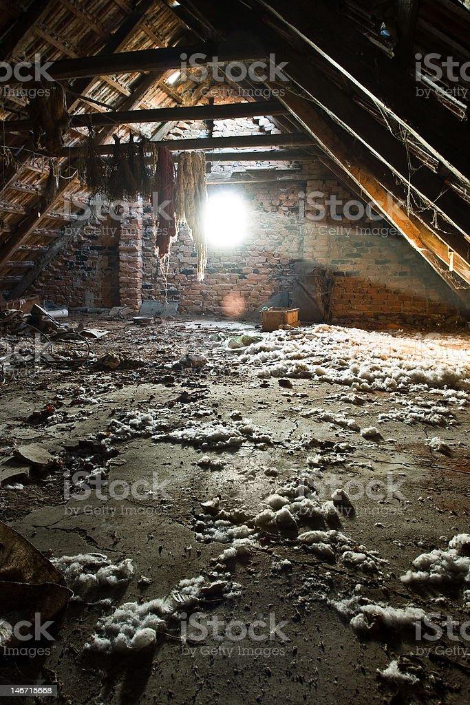 Old attic royalty-free stock photo
