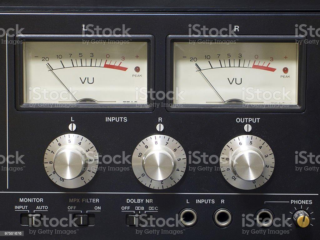 Old audio equipment stock photo