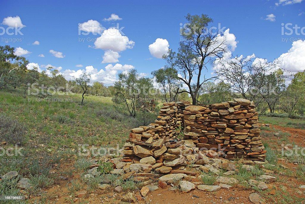 Old australian mining city stock photo