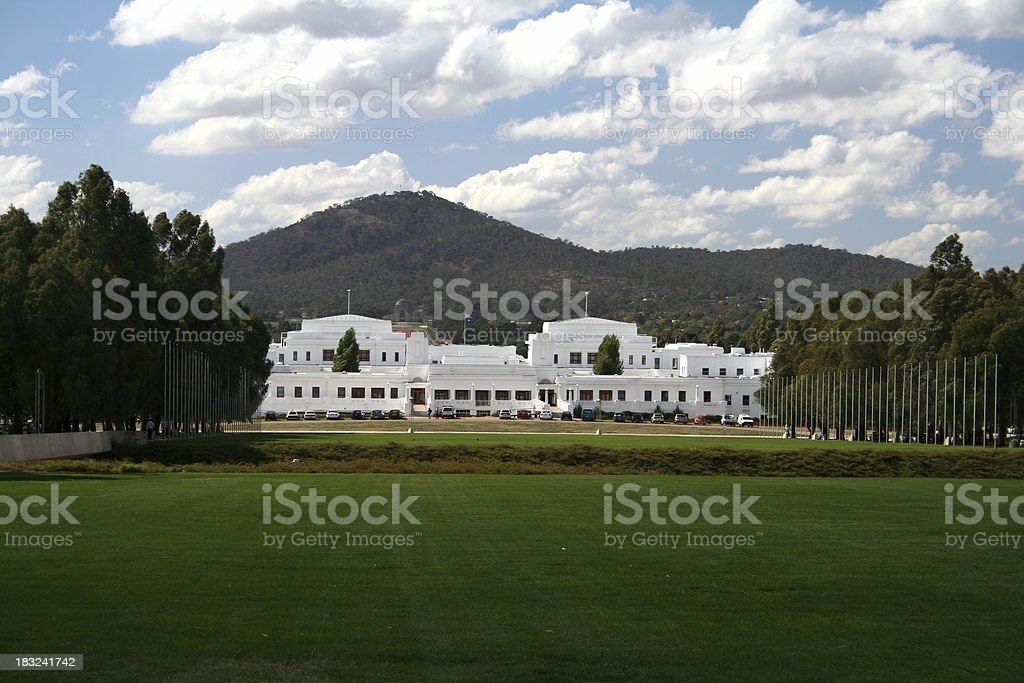 Old Australian Parliament house stock photo