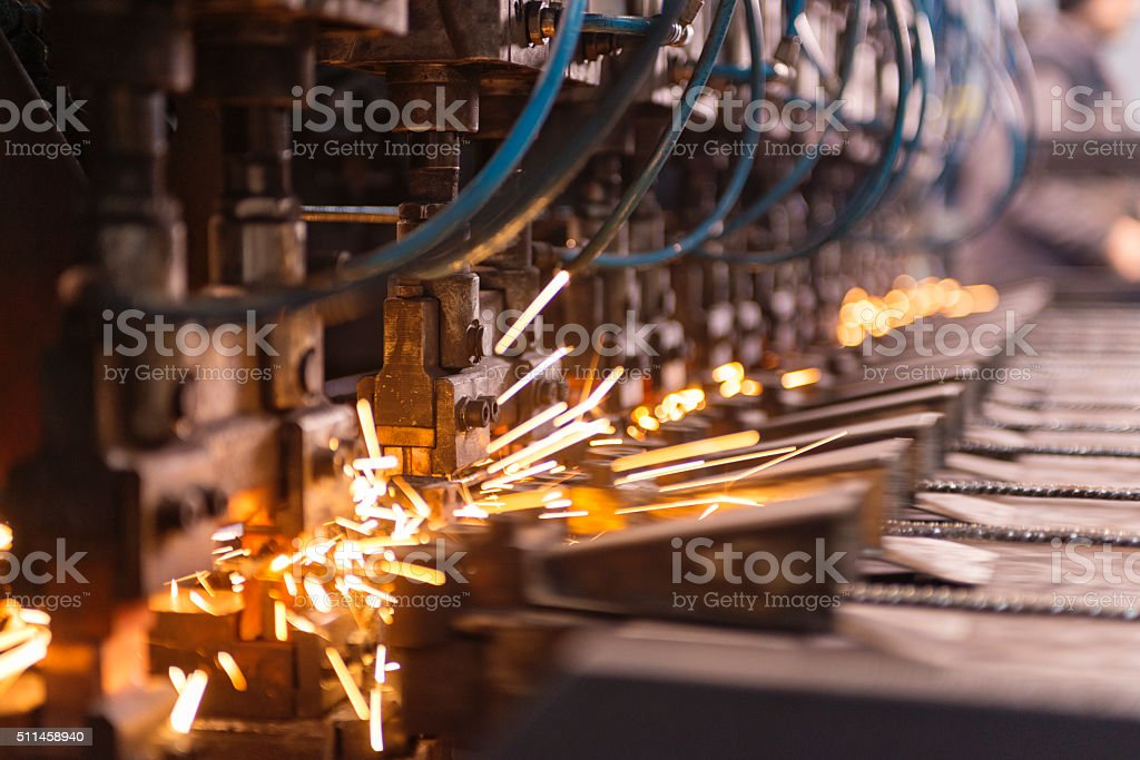 Old automation machine stock photo