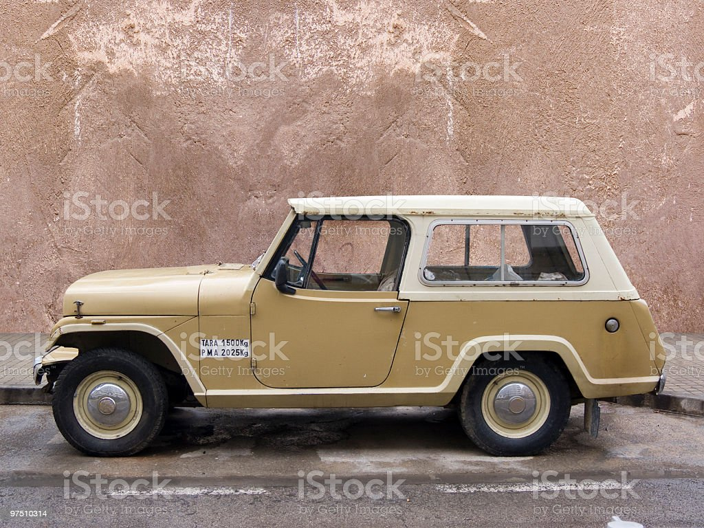 Old automovile stock photo