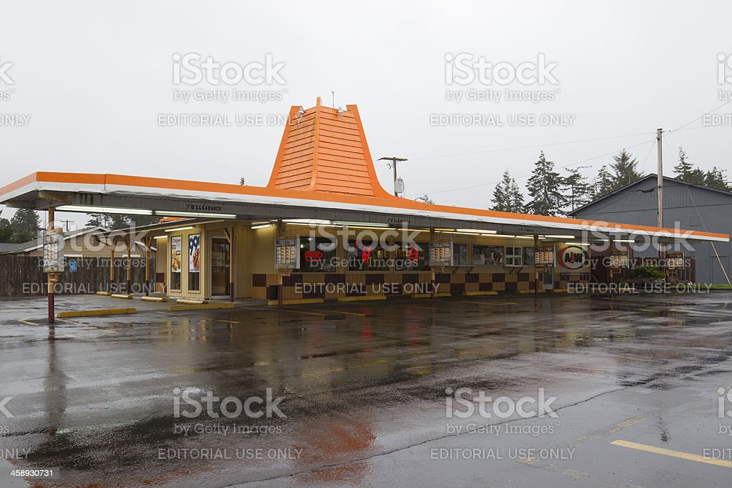 Old A&W Restaurant royalty-free stock photo