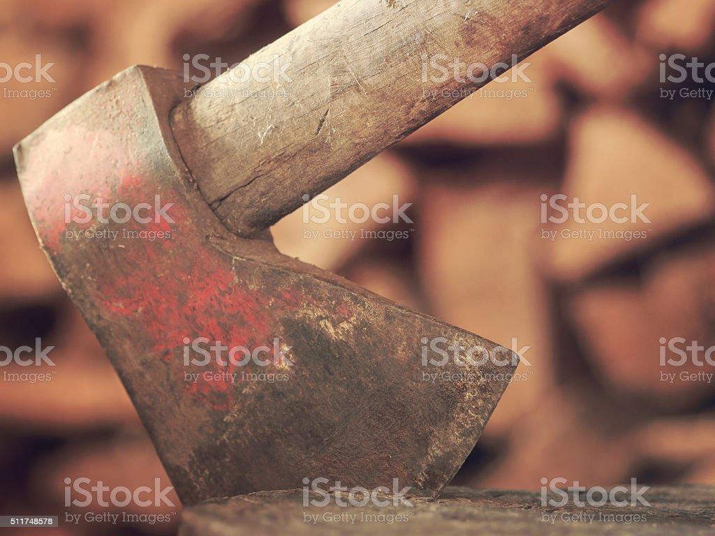 Old axe stock photo