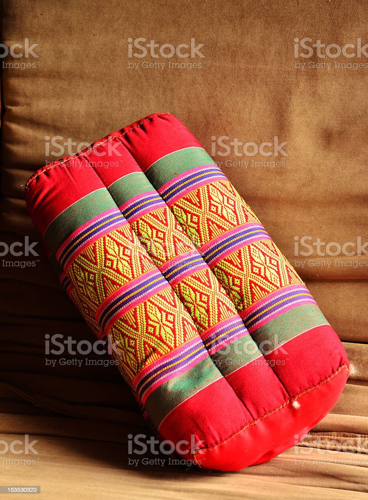 Old Backrest Pillow royalty-free stock photo
