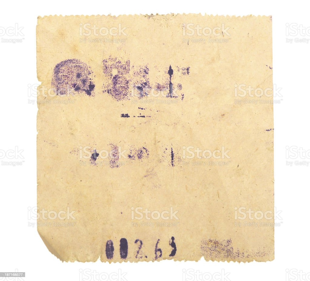 Old Badly Printed Till Receipt royalty-free stock photo