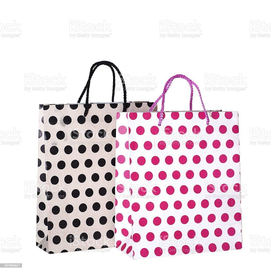 Old bags isolated on white pink royalty-free stock photo