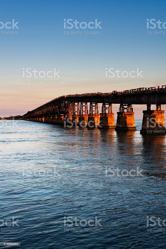 Old Bahia Honda Bridge stock photo