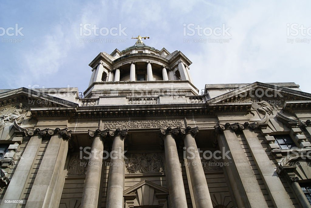 Old Bailey in UK stock photo