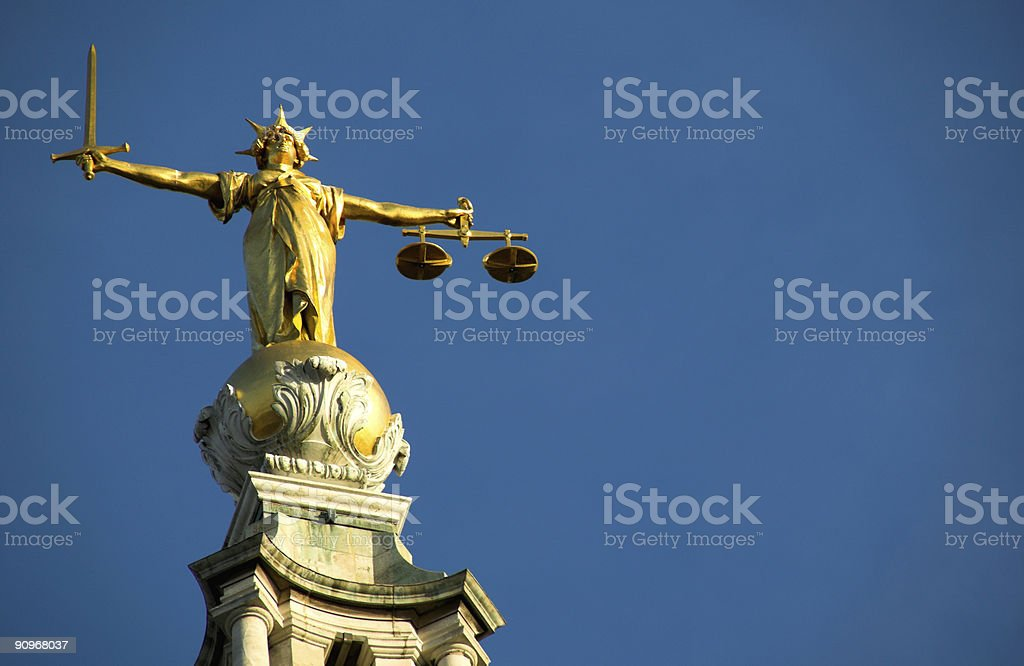 Old Bailey (Scales Of Justice( royalty-free stock photo