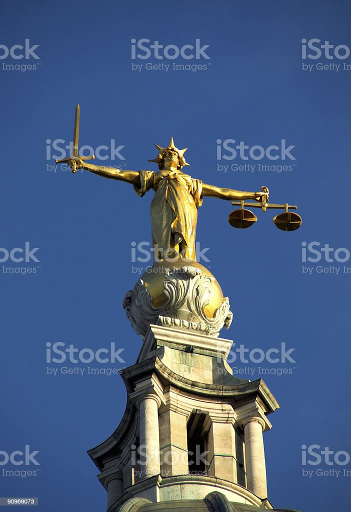 Old Bailey, Scales Of Justice royalty-free stock photo