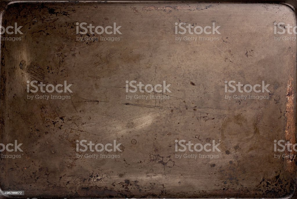 Old Baking Sheet Texture stock photo