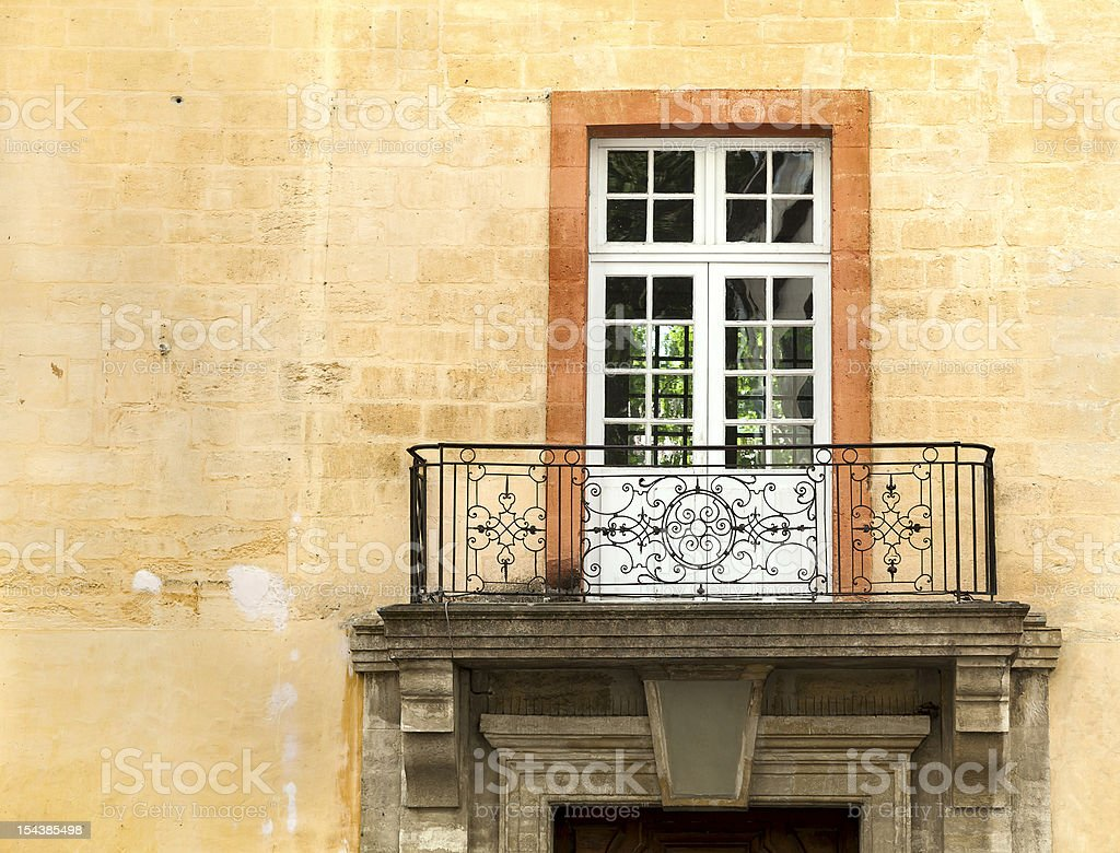 Old balcony of the building royalty-free stock photo