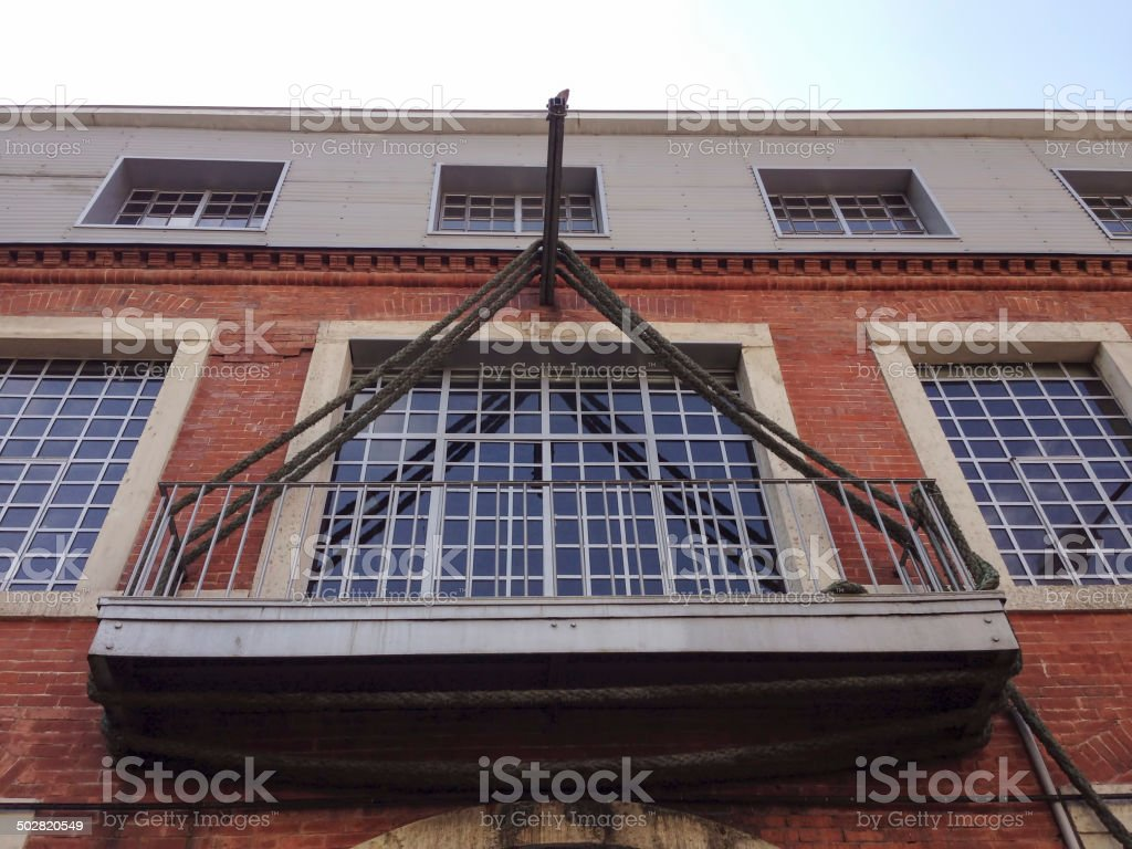 old balcony stock photo