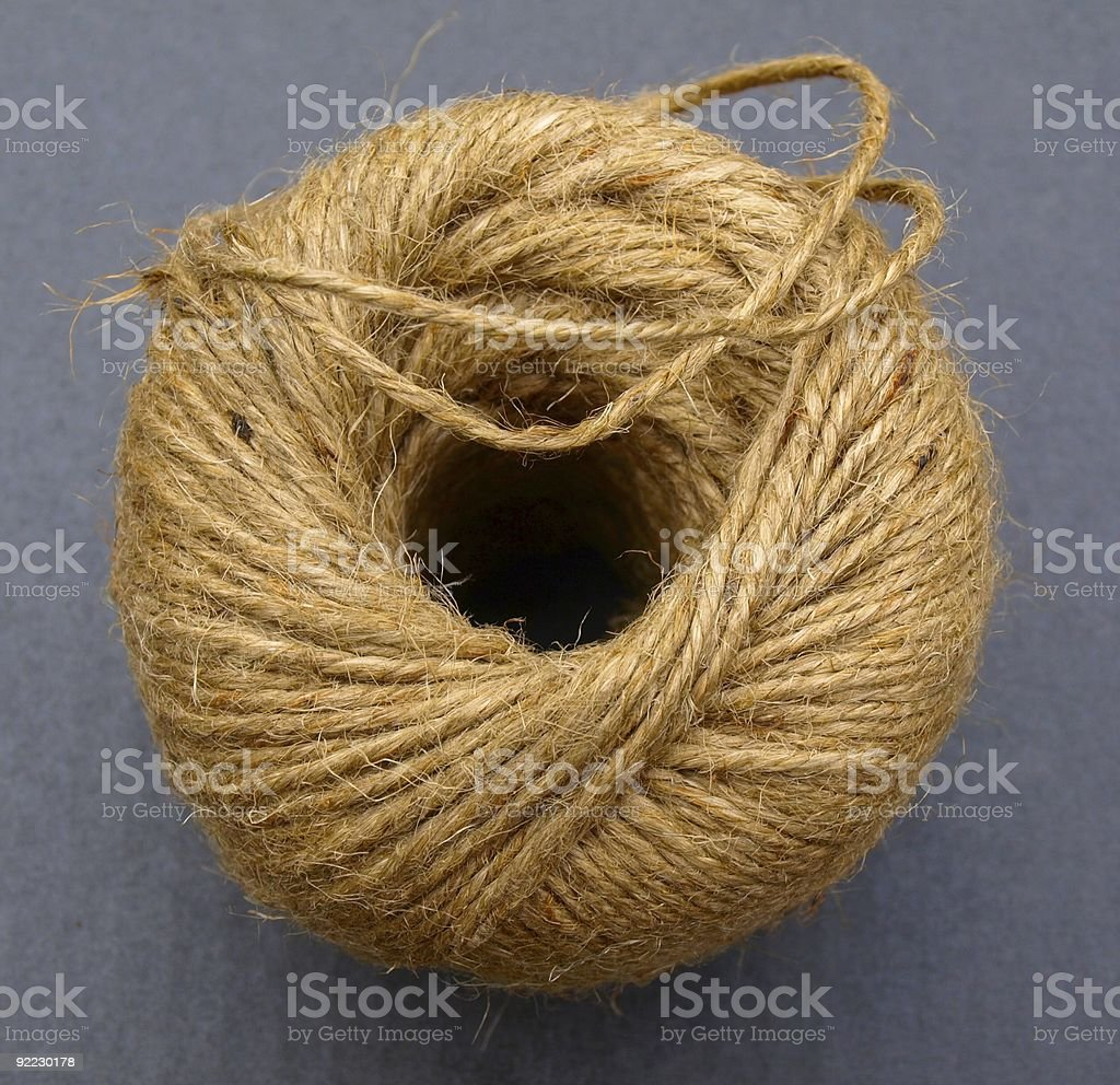 Old ball of string stock photo