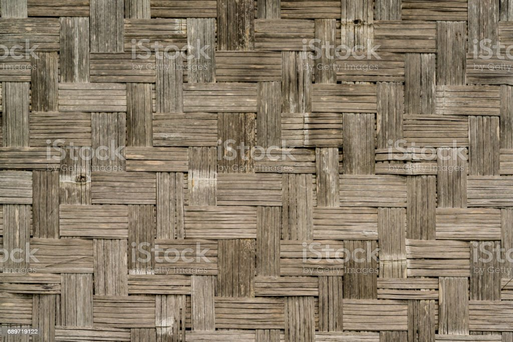 Old Bamboo weave wall texture