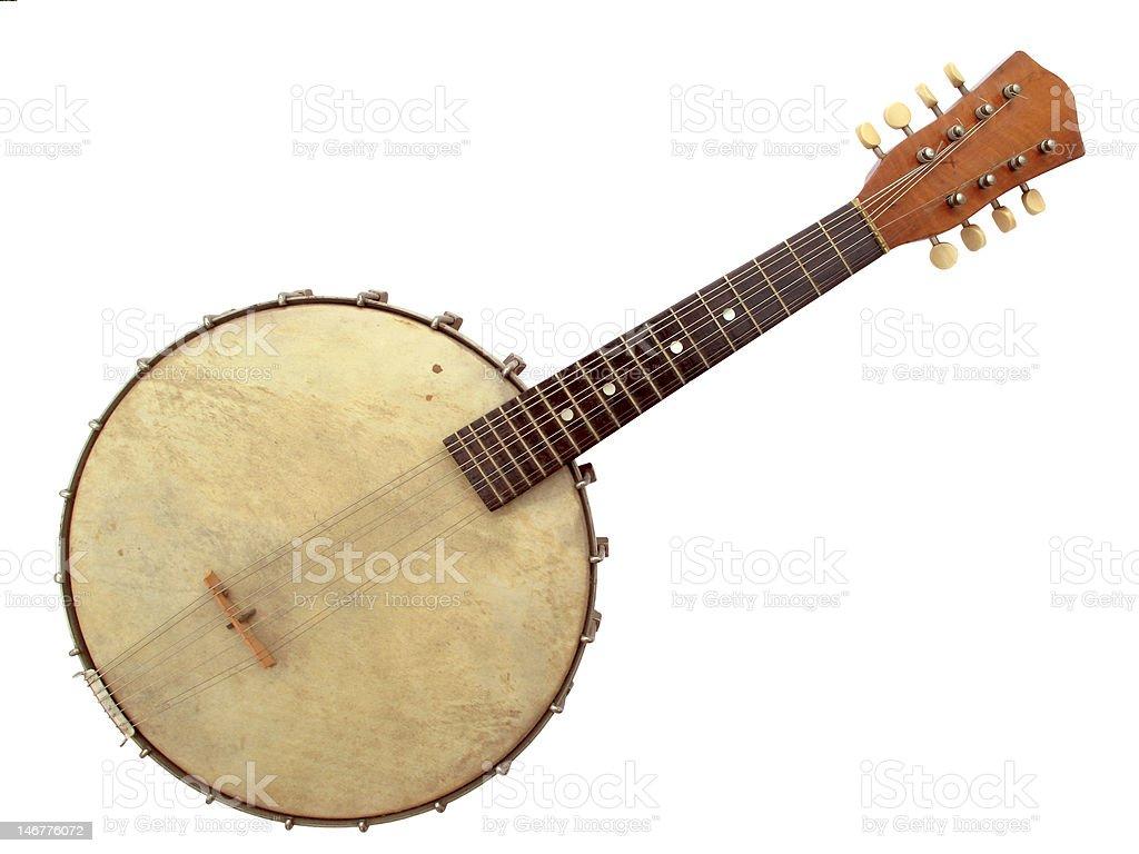 Old Banjo stock photo