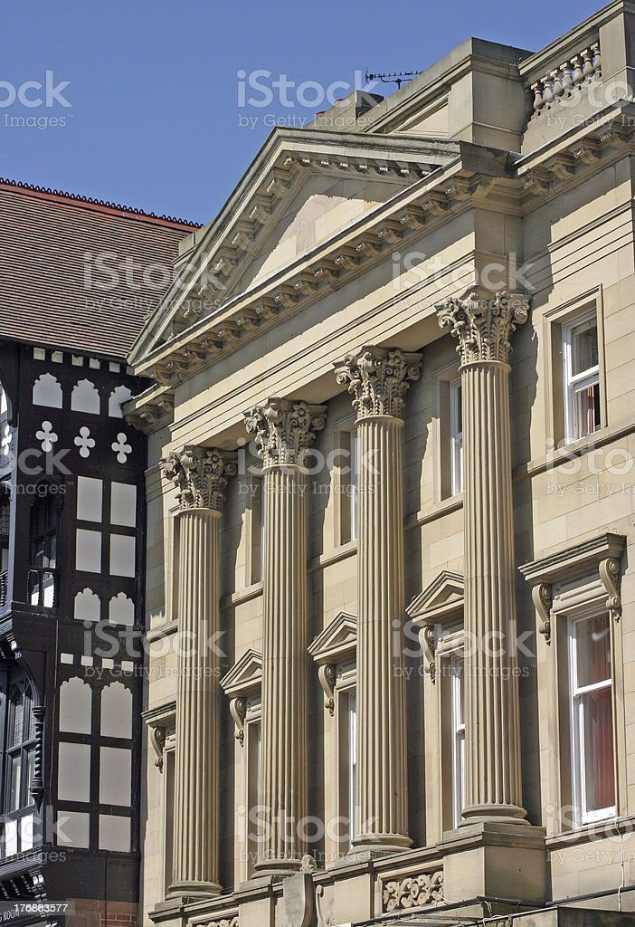 Old Bank in Chester stock photo