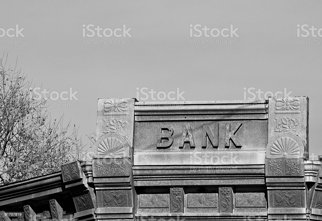 Old Bank stock photo