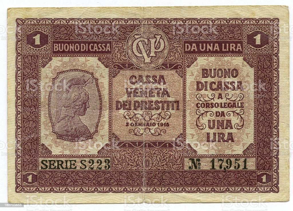 Old banknote stock photo