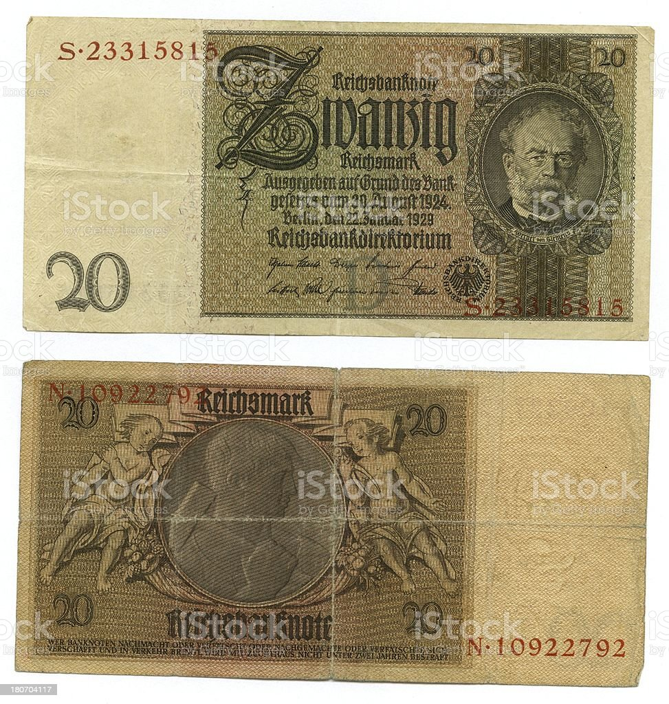 Old banknote royalty-free stock photo