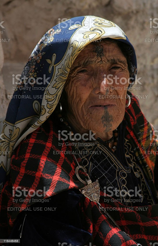 Old Barber woman. stock photo