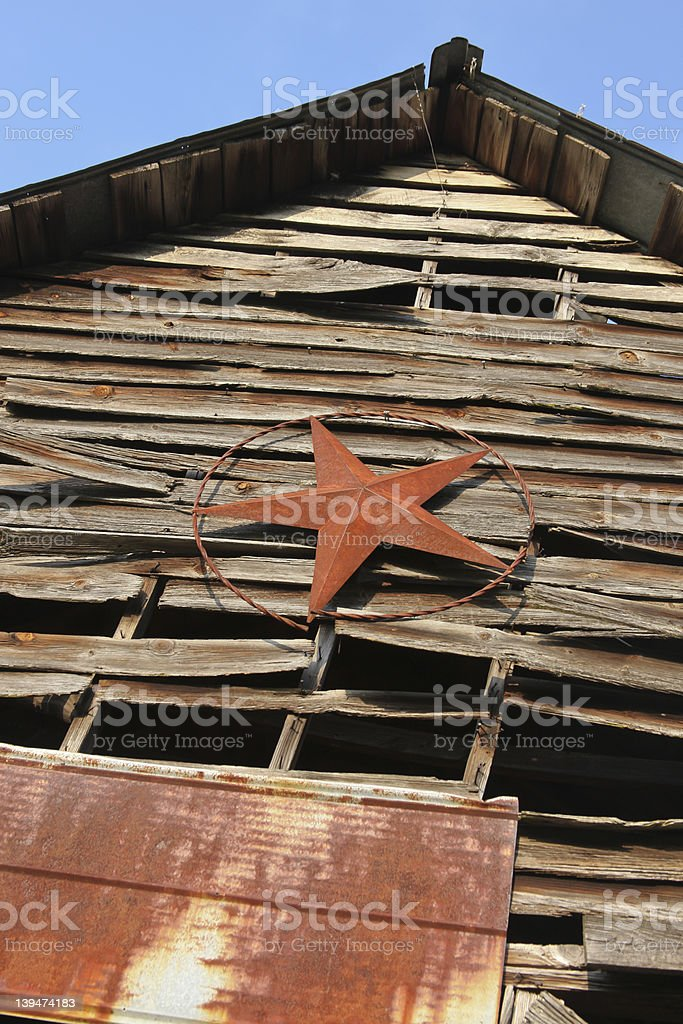 Old Barn and Tin Star royalty-free stock photo