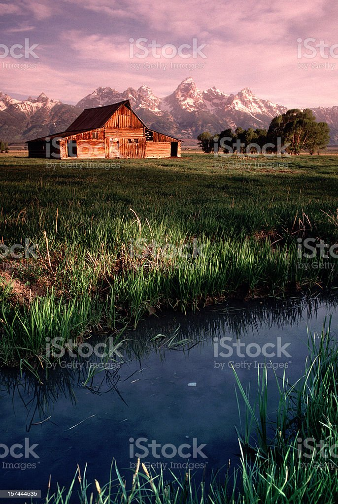 Old Barn Antelope Flats Grand Tetons Wyoming Vertical royalty-free stock photo