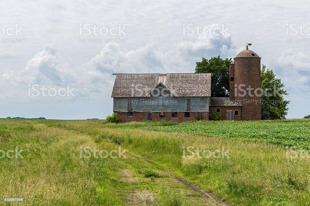 Old Barn Country Scene stock photo