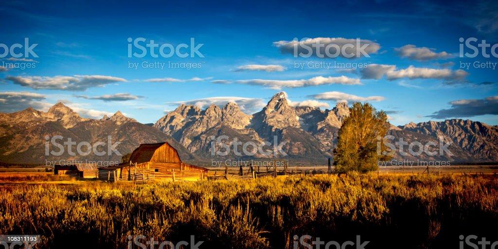 Old Barn Grand Tetons National Park. stock photo