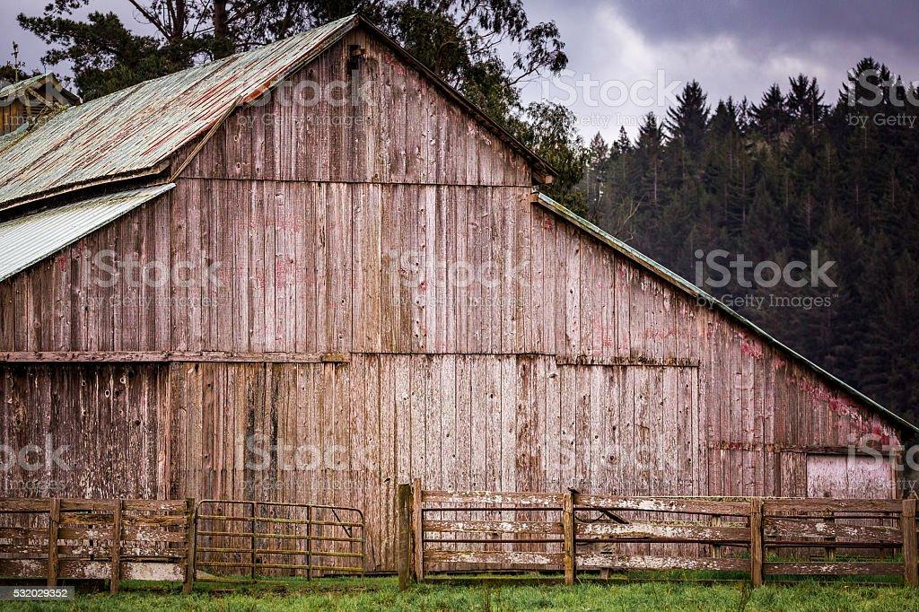 Old Barn Landscape stock photo