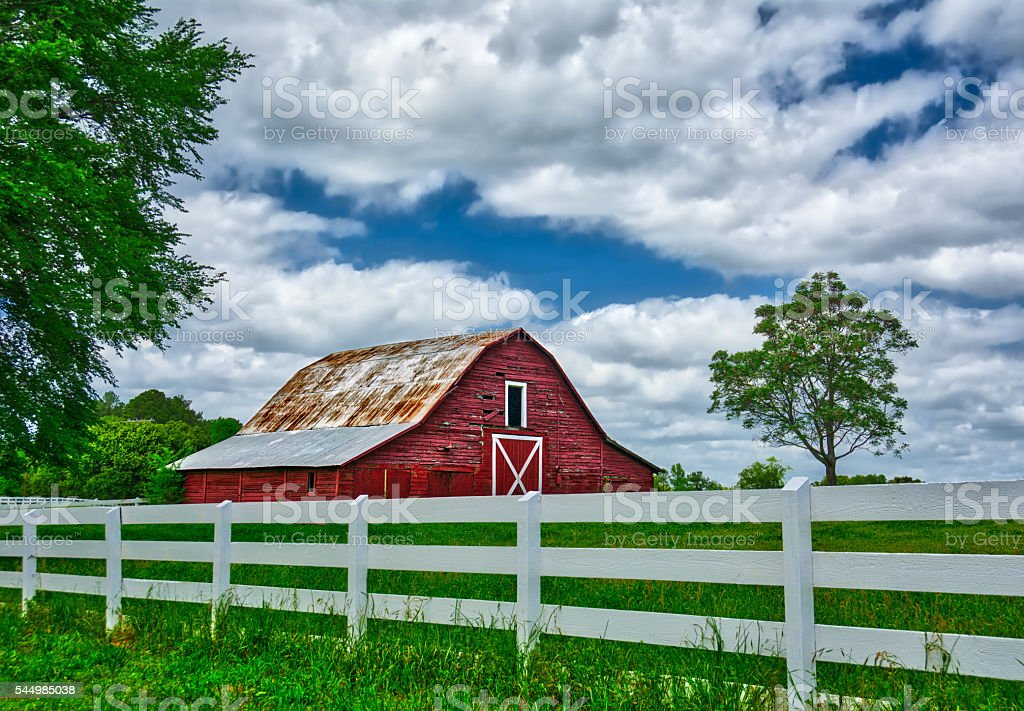 Old Barn on a Backroad stock photo