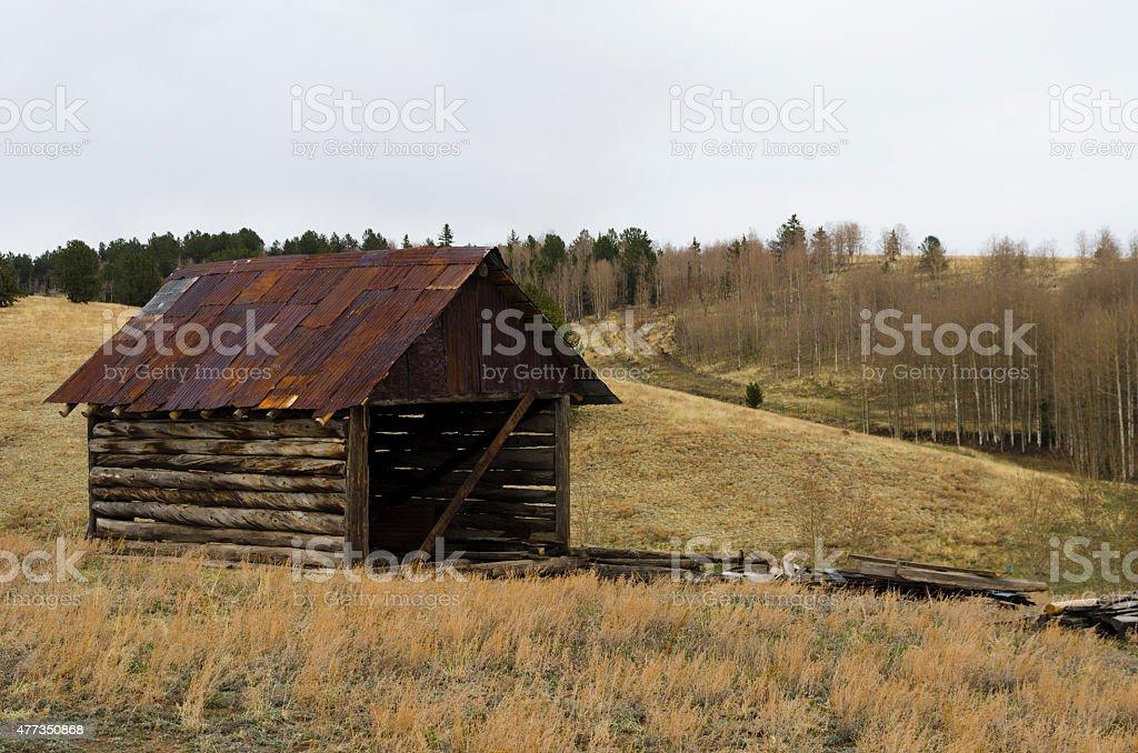 Old Barn on Phantom Canyon Road stock photo