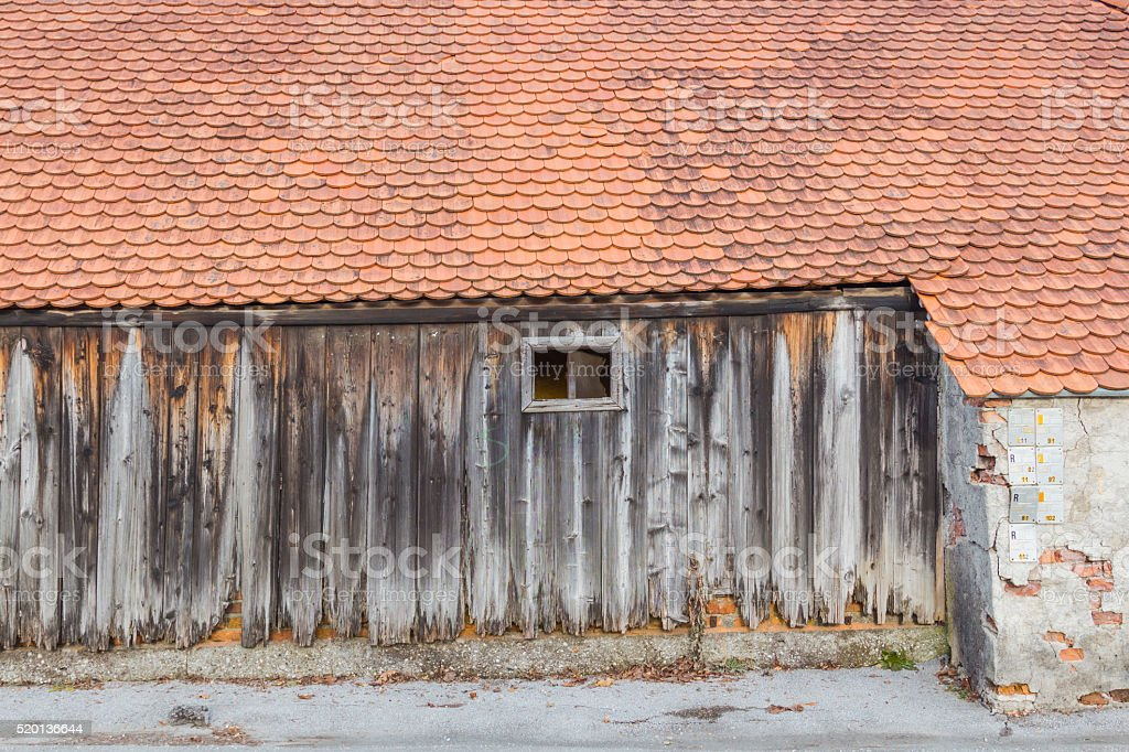Old barn. stock photo
