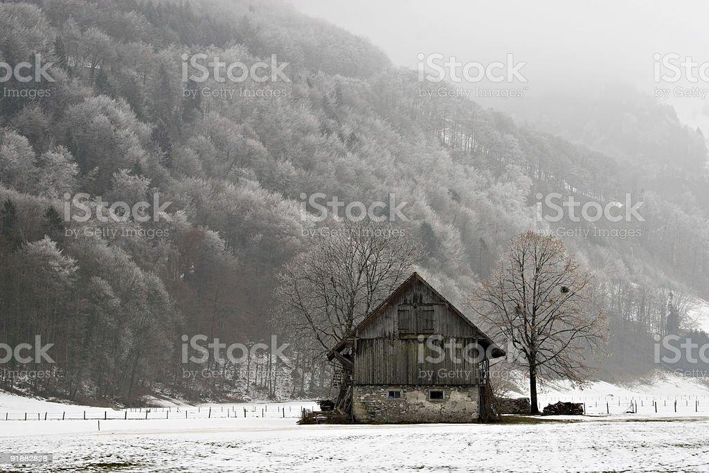 Old barn stock photo