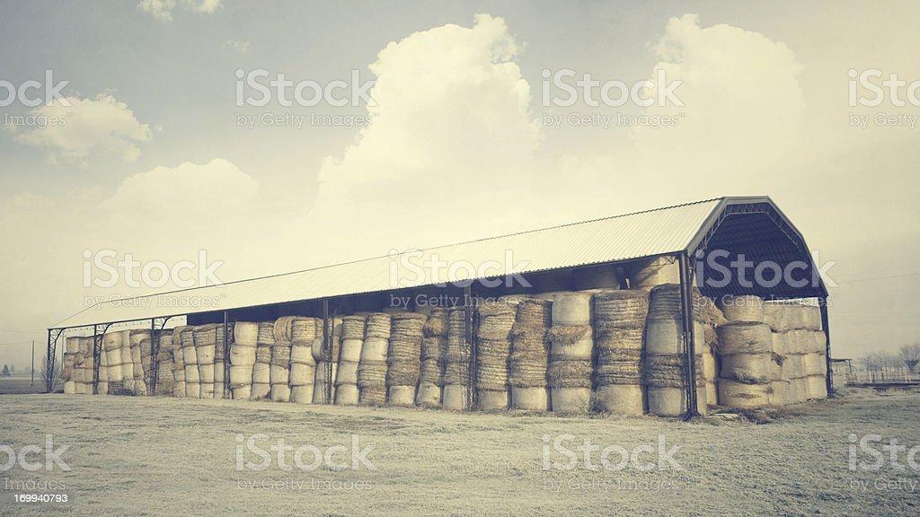 Old Barn. Vintage style stock photo