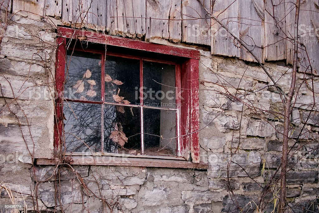 Stary Stodoła okno zbiór zdjęć royalty-free