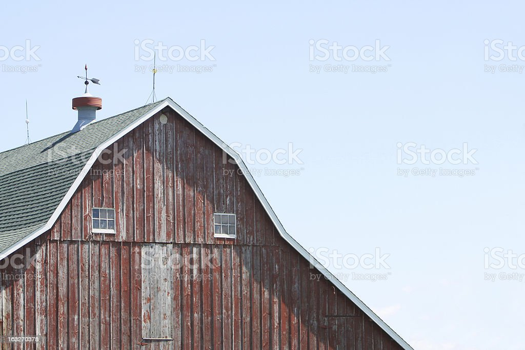 Old Barn with Copy Space stock photo