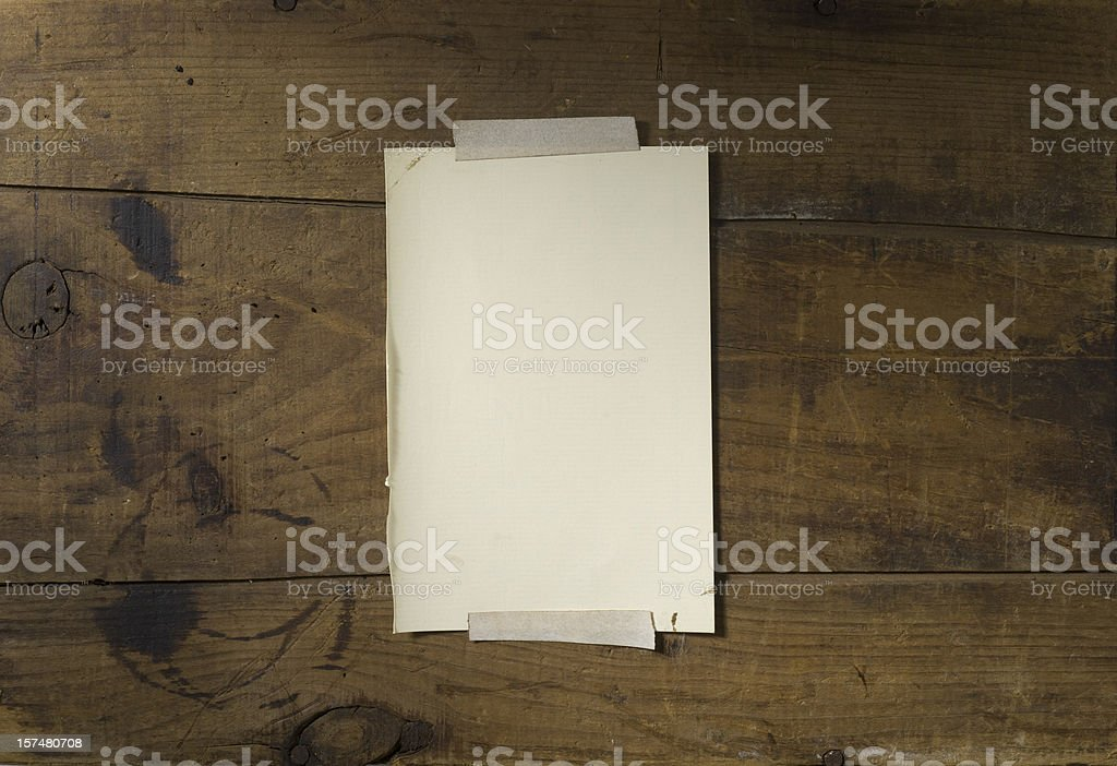 Old Barn Wood with Parchment (middle) - XXXL stock photo
