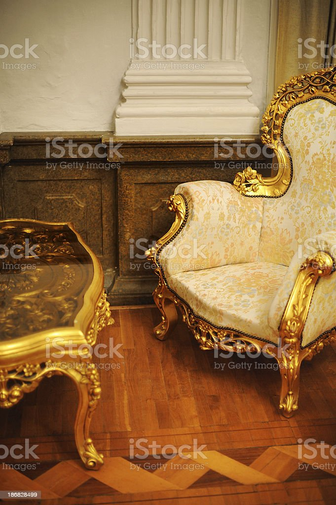 Old Baroque Chair royalty-free stock photo