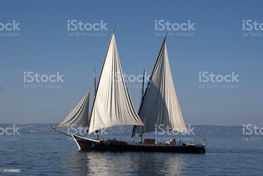 Old barque 'La Savoie' stock photo