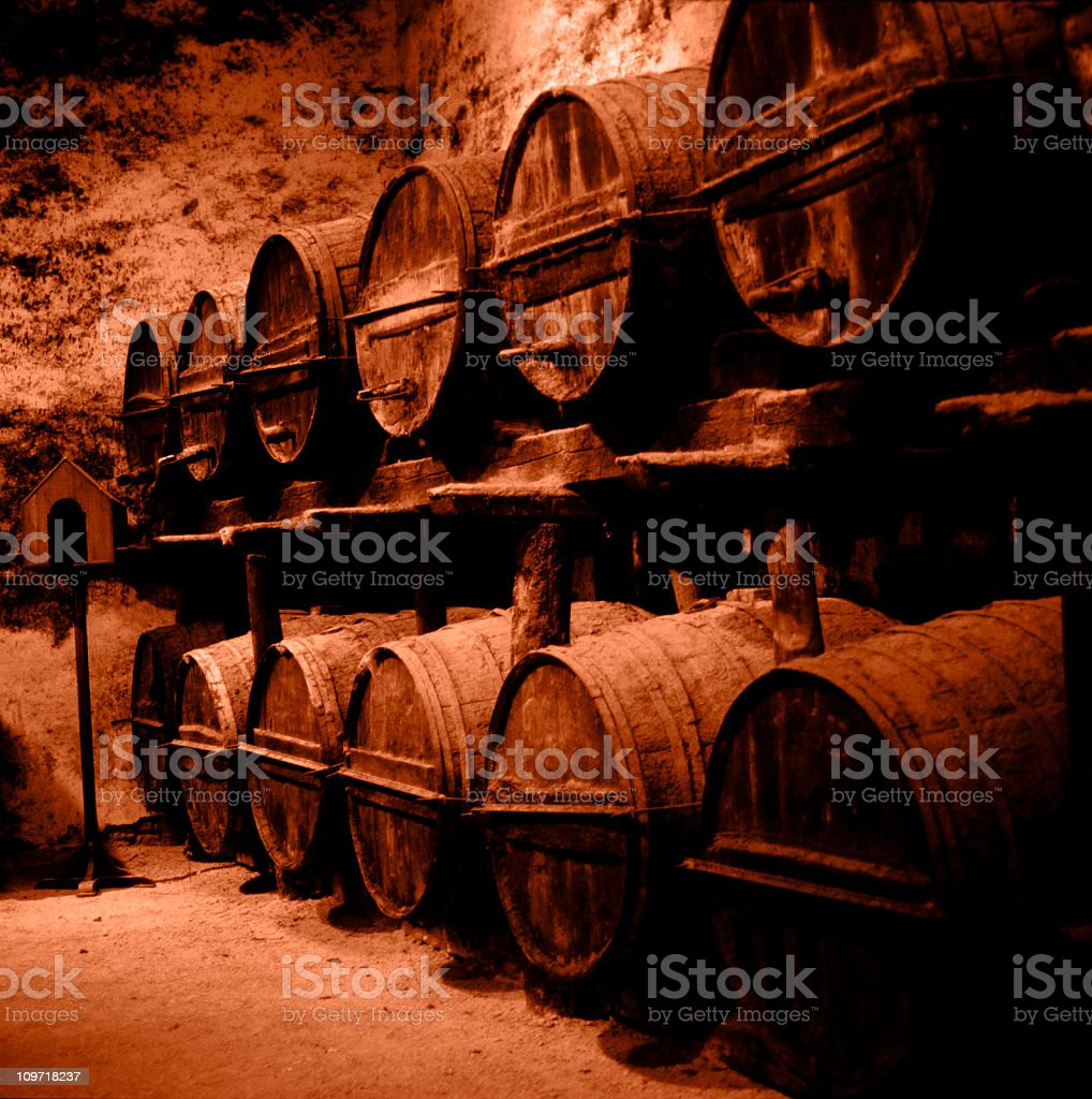 old barrels royalty-free stock photo