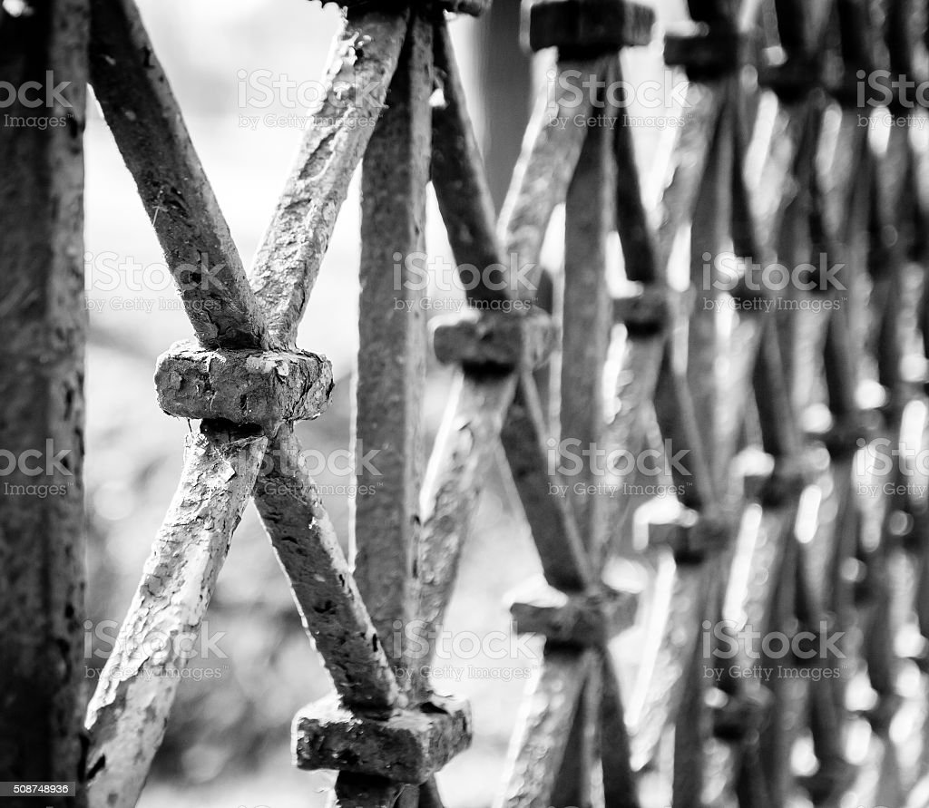 Old barrier stock photo
