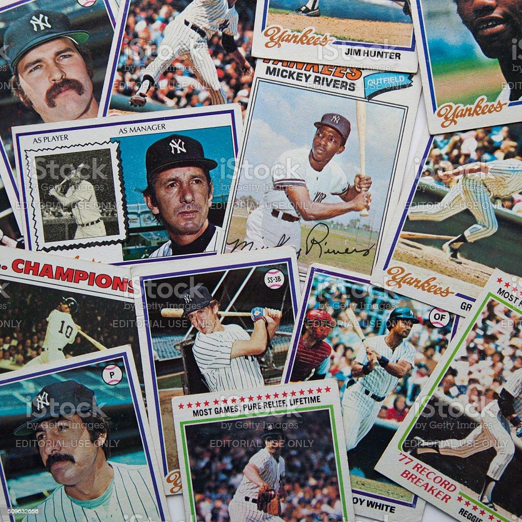 Old Baseball Cards stock photo