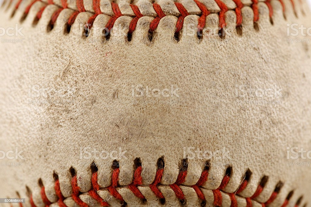 Old Baseball Close up stock photo