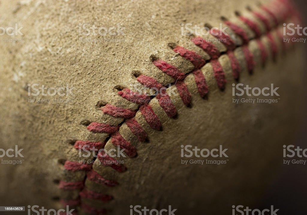 Old Baseball Lace stock photo